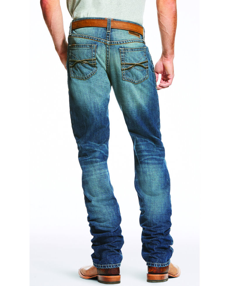 Ariat Men's Blue M2 Relaxed Fit Bootcut Jeans, Blue, hi-res