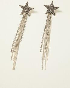 Idyllwind Women's Shooting Star Fringe Earrings, Silver, hi-res
