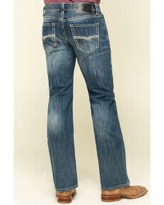 Rock & Roll Cowboy Men's Pistol Dark Reflex Stretch Bootcut Jeans , Blue, hi-res