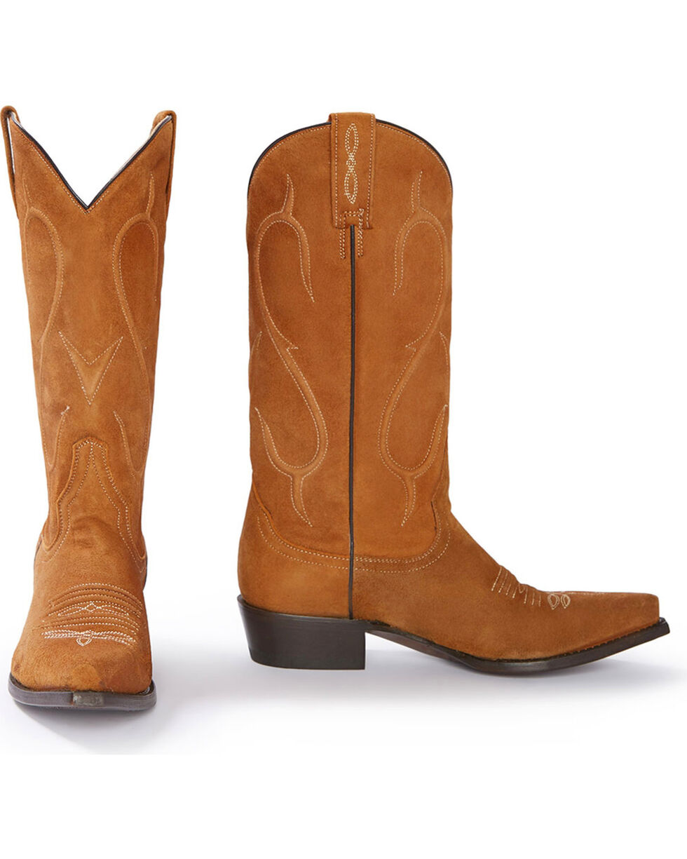 Stetson Women's Reagan Brown Rough Out Western Boots - Snip Toe, Brown, hi-res