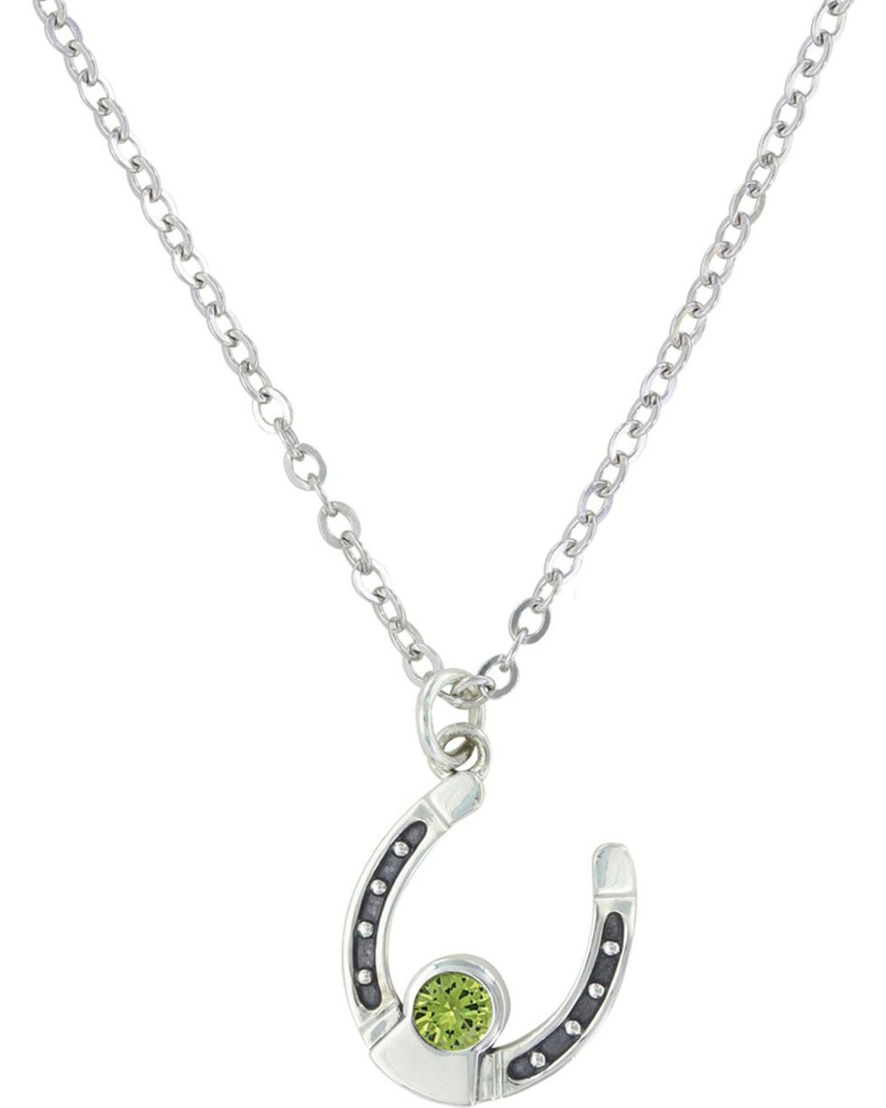 Sterling Lane Women's August Birthstone Necklace , Silver, hi-res