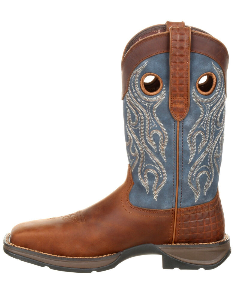 Durango Men's Rebel Pull-On Western Work Boots - Steel Toe, Brown, hi-res
