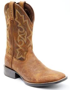 Durango Men's Westward Western Boots - Wide Square Toe, Brown, hi-res