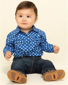 Cody James Infant Boys' Astro Geo Print Long Sleeve Onesie , Royal Blue, hi-res