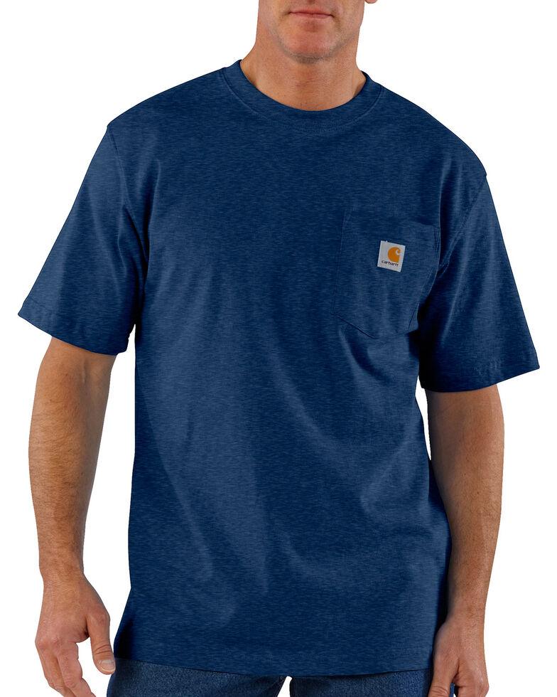 Carhartt Men's Workwear Pocket T-Shirt - Big & Tall, Dark Blue, hi-res