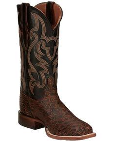 Justin Men's Cognac Exotic Crocodile Western Boots - Square Toe, Cognac, hi-res