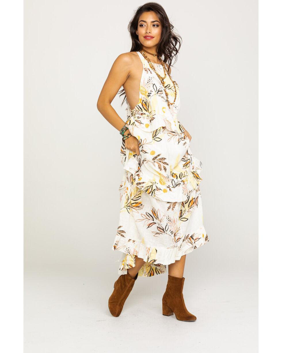 Free People Women's Anita Printed Maxi Dress, Ivory, hi-res
