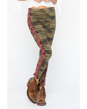 Johnny Was Women's Marjan Legging Pants , Camouflage, hi-res