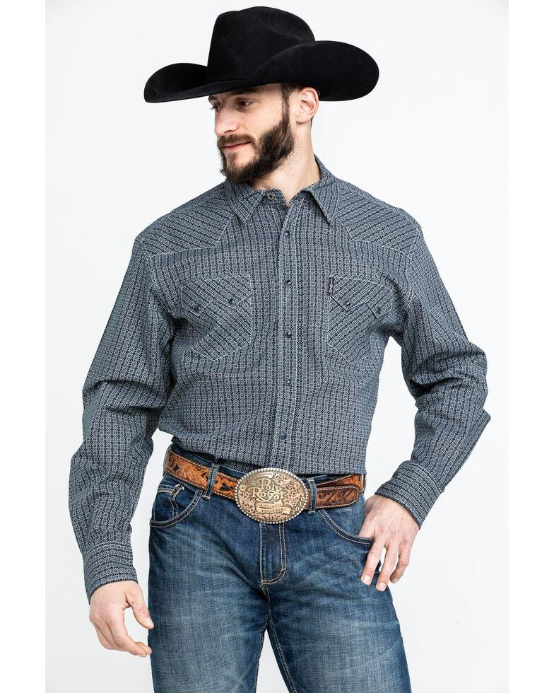 Moonshine Spirit Men's Tex Mex Floral Geo Print Long Sleeve Western Shirt , Black, hi-res