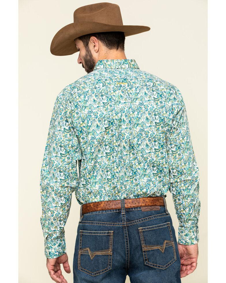Ariat Men's Riverbank Stretch Paisley Print Long Sleeve Western Shirt - Big , Multi, hi-res