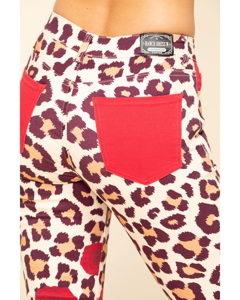 Ranch Dress'n Women's Leopard Rose Bootcut Jeans, Multi, hi-res
