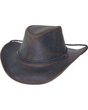 Bullhide Men's Hilltop Premium Leather Cowboy Hat, Chocolate, hi-res