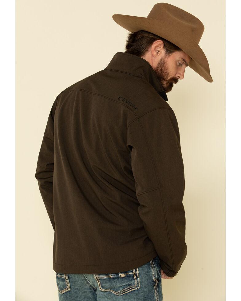 Cinch Men's Brown Solid Logo Textured Bonded Jacket , Brown, hi-res