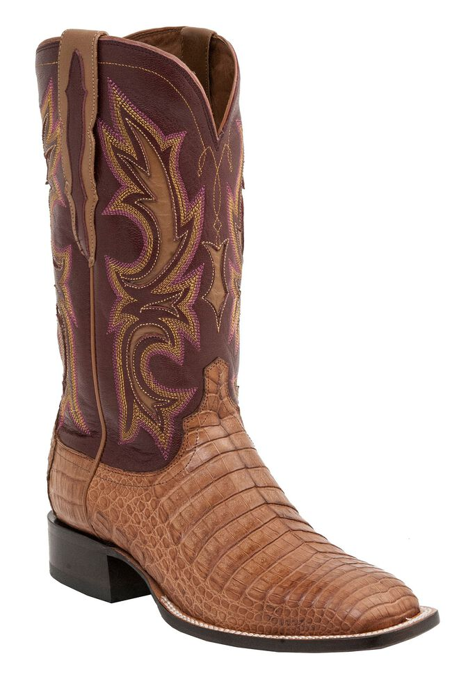 Lucchese 1883 Handmade Shiloh Caiman Belly Cowboy Boots