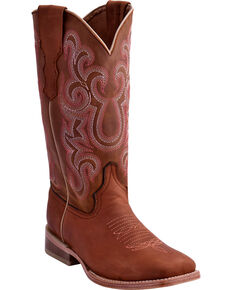 Ferrini Women's Maverick Western Boots - Square Toe , Tan, hi-res