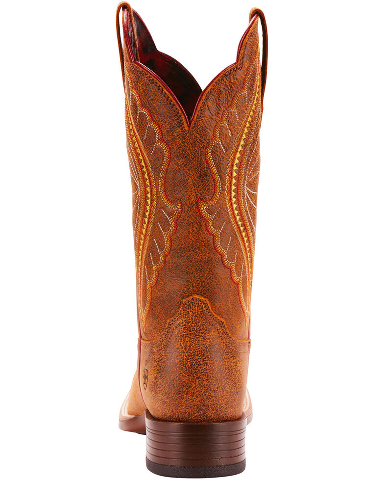 Ariat Women's Primetime Vintage Bomber Performance Cowgirl Boots - Square Toe, Brown, hi-res