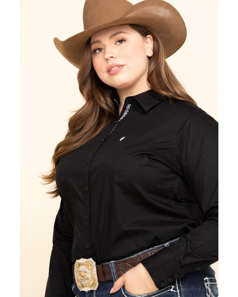 Ariat Women's Black Kirby Stretch Shirt - Plus, Black, hi-res