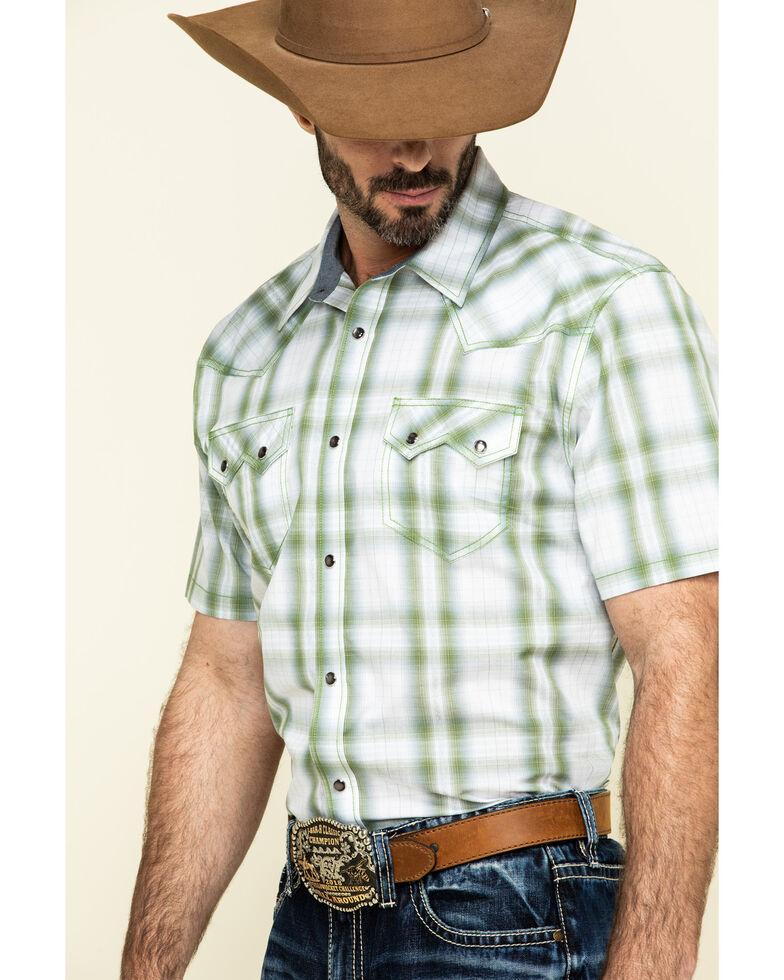 Cody James Men's Woodlands Large Plaid Short Sleeve Western Shirt - Big , White, hi-res