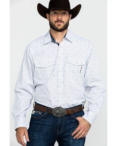 Resistol Men's Helm Long Sleeve Western Shirt, White, hi-res