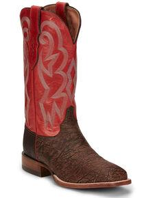 Justin Men's Mingus Walnut Western Boots - Wide Square Toe, Tan, hi-res
