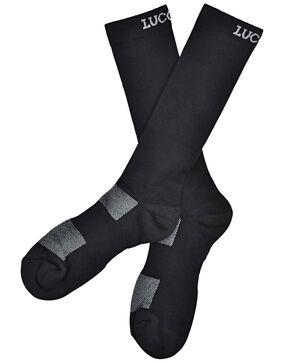 Lucchese Men's Black Multi-Blend Socks , Black, hi-res