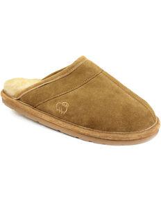 Lamo Footwear Men's Scuff Slippers, Chestnut, hi-res