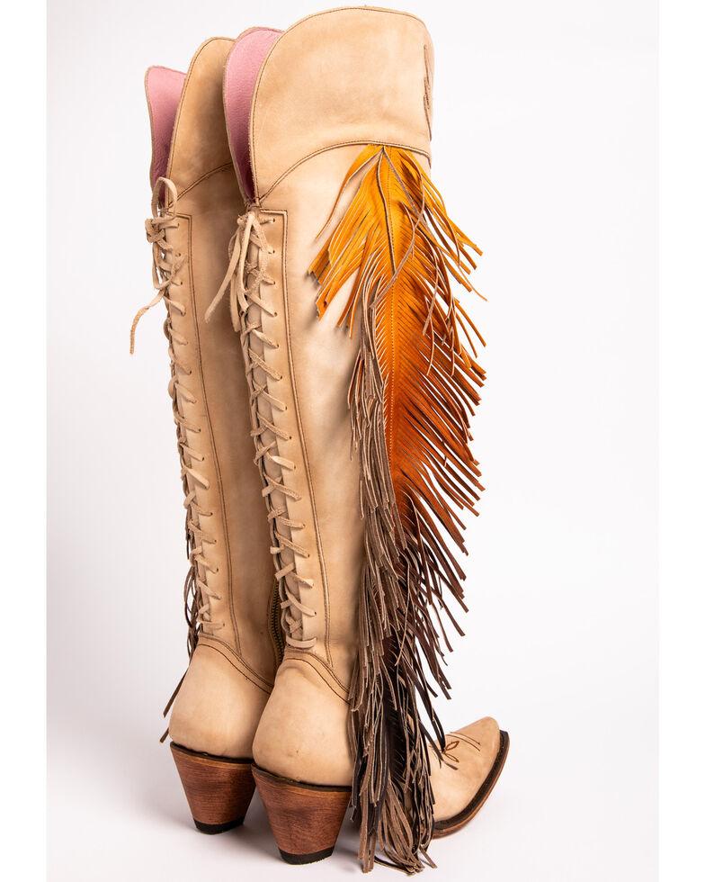 Junk Gypsy by Lane Women's Spirit Animal Tall Boots - Snip Toe , Cream, hi-res