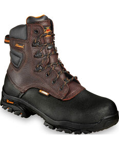 "Thorogood Men's Crossover 7"" Waterproof Z-Trac Boots - Composite Toe, Brown, hi-res"