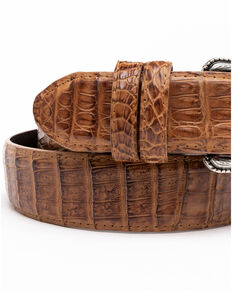 Cody James Men's Brown Hornback Caiman Exotic Belt , Brown, hi-res