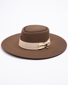 Charlie 1 Horse Women's Big Tease Pecan Western Wool Hat , Pecan, hi-res