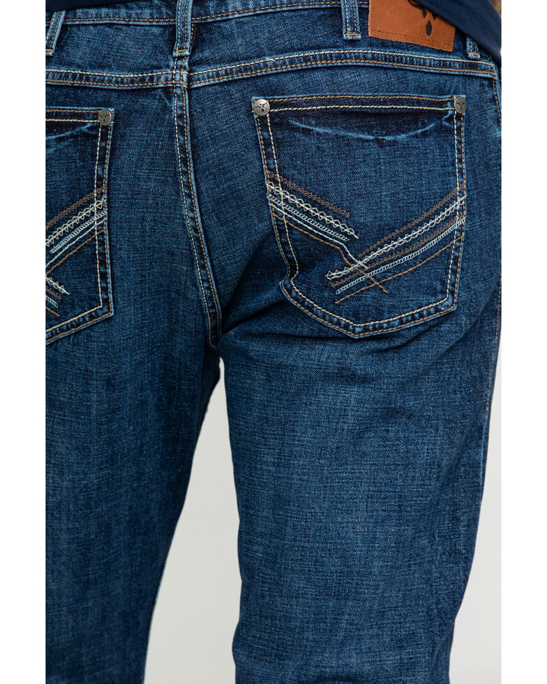 Wrangler 20X Men's Amarillo Vintage Stretch Slim Bootcut Jeans , Blue, hi-res