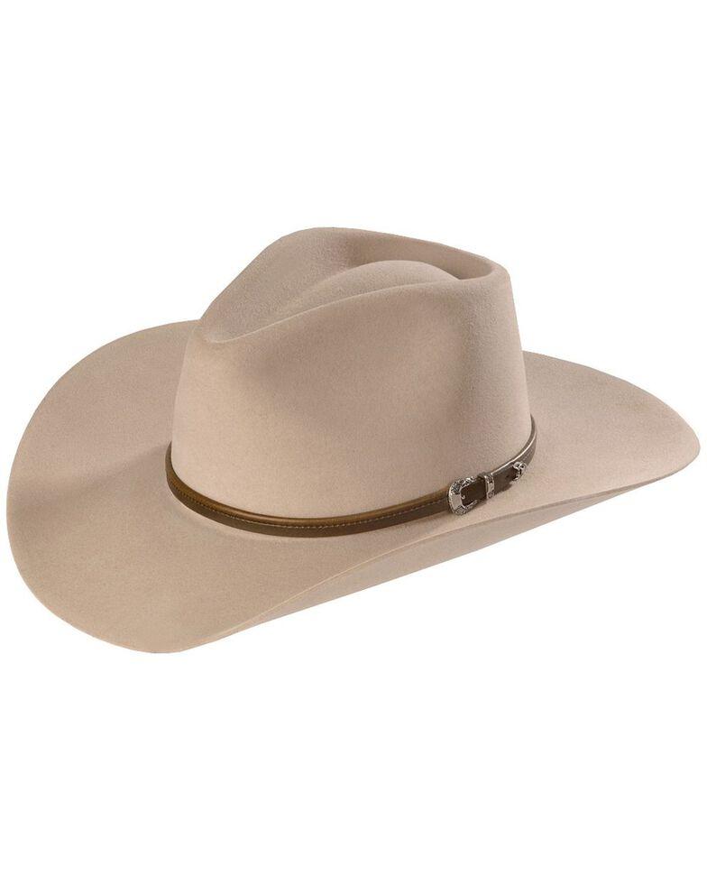 Stetson Men's 4X Buffalo Felt Seneca Western Hat, Silver Sand, hi-res