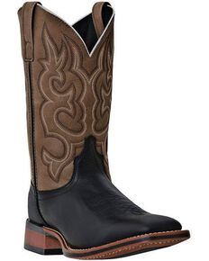 Laredo Men's Basic Stockman Cowboy Boots - Square Toe, Black, hi-res