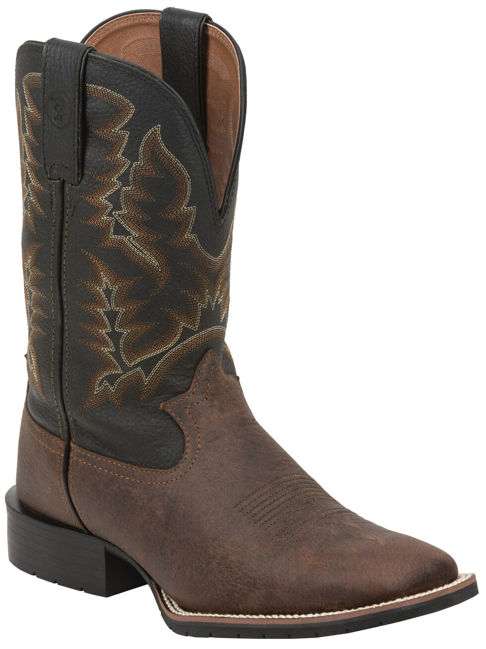 Tony Lama Men's Dwale 3R Pitstop Western Boots - Square Toe, Brown, hi-res