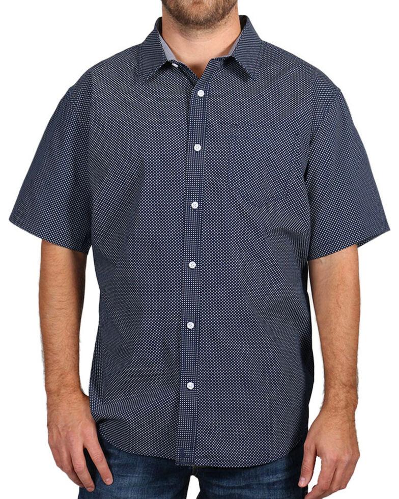 Cody James Men's Textured Short Sleeve Shirt , Navy, hi-res