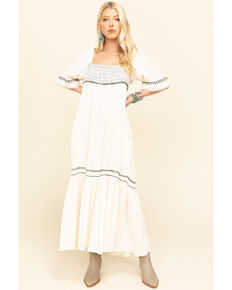 Free People Women's Ivory Im The One Maxi Dress, Ivory, hi-res