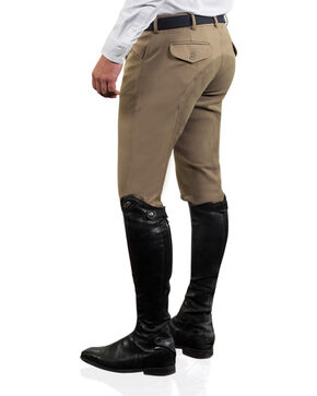 Ovation Men's Euroweave Four Pocket Full Seat DX Breeches, Tan, hi-res