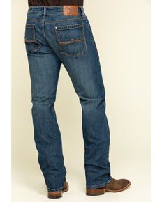 Rock 47 By Wrangler Men's Duet Stretch Slim Straight Jeans , Blue, hi-res
