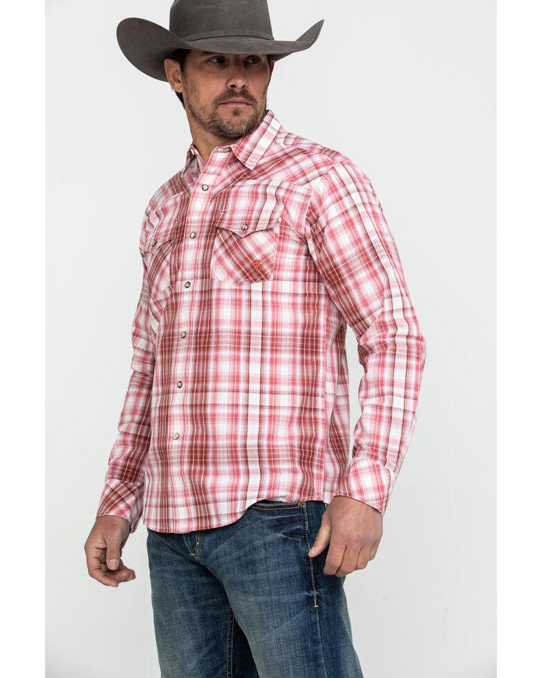 Ariat Men's Iwerson Retro Plaid Long Sleeve Western Shirt , Red, hi-res