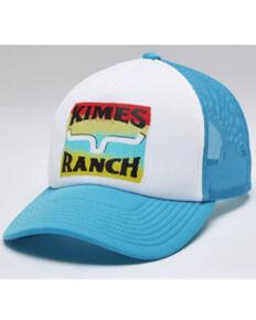 Kimes Ranch Men's Turquoise & White Block Party Logo Mesh-Back Trucker Cap , Turquoise, hi-res