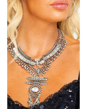 Idyllwind Women's Star Spangled Rodeo White Turquoise Necklace, Silver, hi-res