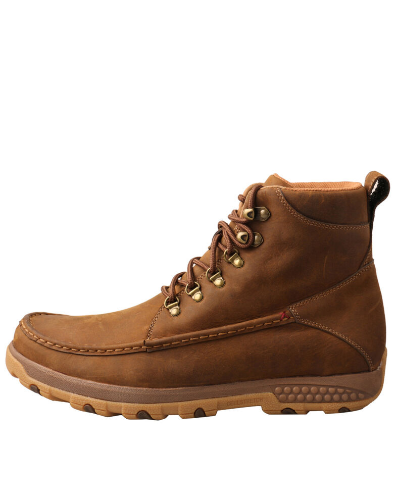 Twisted X Men's Driving Hiker Boots - Moc Toe, Brown, hi-res