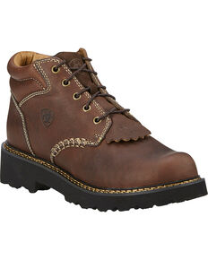 Ariat Canyon Lace-Up Work Boots - Round Toe, Copper, hi-res