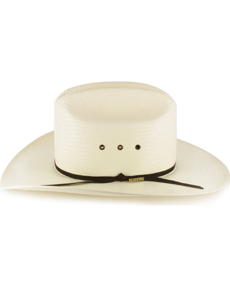 Resistol Kid's Elastic Fit Straw Cowboy Hat, Natural, hi-res