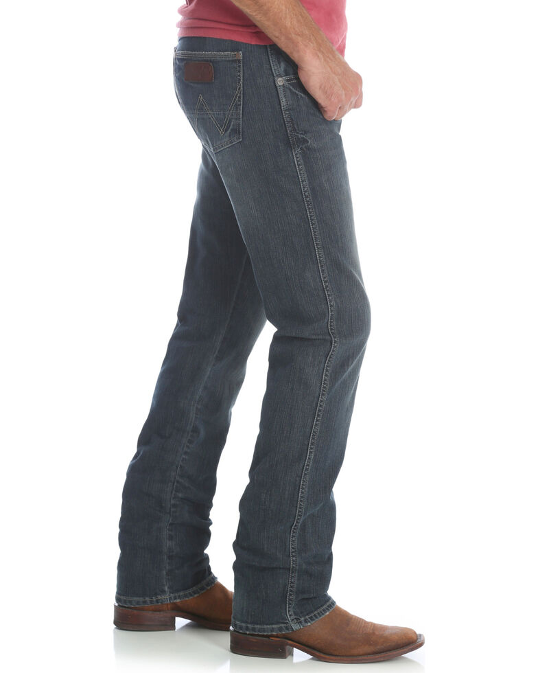 Wrangler Retro Men's Jerome Slim Straight Fit Jeans , Indigo, hi-res