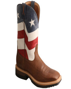 Twisted X Men's Alloy Toe Lite Western Work Boots, Brown, hi-res