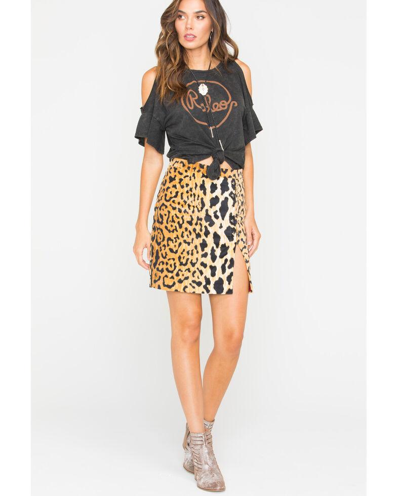 Tasha Polizzi Women's Hot Spot Mini Skirt, Gold, hi-res