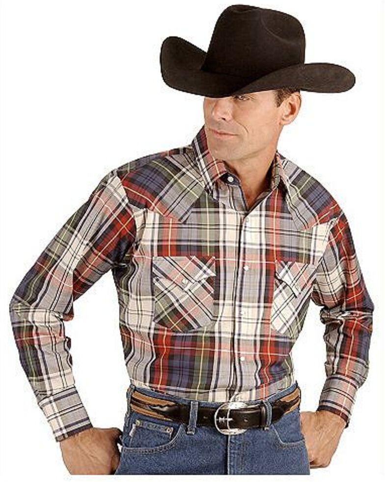 Ely Walker Men's Assorted Long Sleeve Western Shirt - Big & Tall, Plaid, hi-res