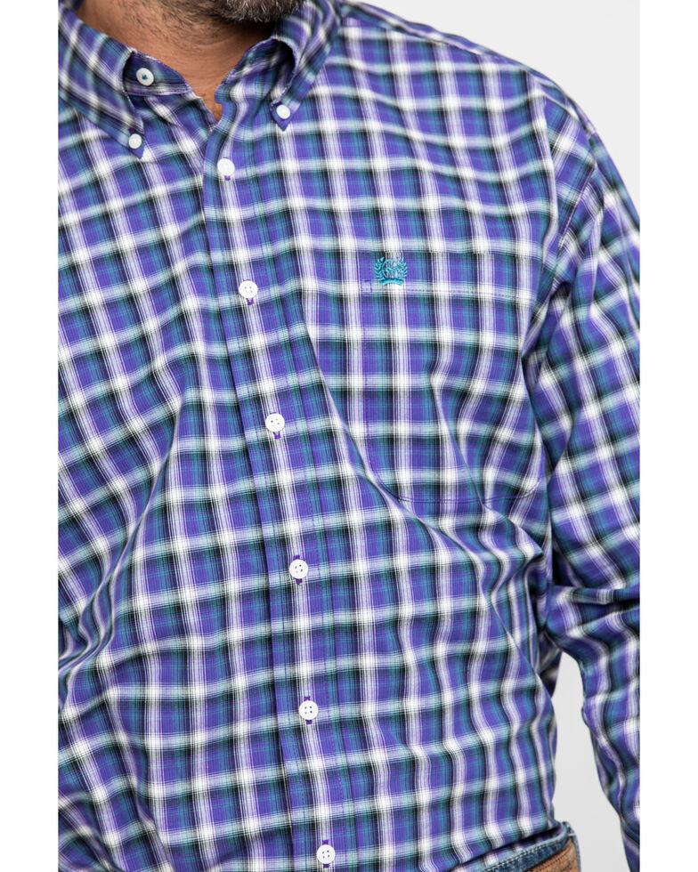 Cinch Men's Multi Large Plaid Button Long Sleeve Western Shirt , Purple, hi-res
