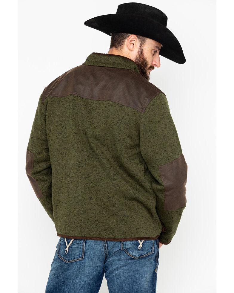 Outback Trading Co. Men's Garner Reinforced Zip-Up Jacket , Olive, hi-res